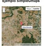 SimpleGMaps visualización